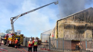 Fire crews tackle the flames in Wisbech