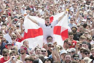 England supporters and festival goers  at the Isle of Wight festival had plenty to celeberate