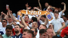 Fans beat the heat to cheer England through to final 16