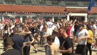 Nottingham fans were celebrating England's win.