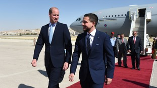 Prince William has promised to watch the match with his host in Jordan, Crown Prince Hussein.
