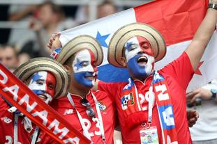The Panama fans also proved to be dab hands with the face paint