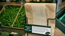 Supermarket reintroduces paper bags to beat plastic waste