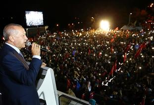 Mr Erdogan claimed victory on Sunday