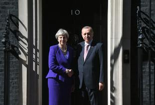 Mr Erdogan visited the UK in May