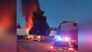 Fire crews tackling large fire at industrial unit