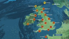 Weather: Glorious sunshine for most parts of UK on hot day