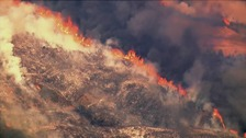 Wildfires have destroyed buildings in northern California.