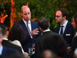The Duke of Cambridge attends the Queen's birthday party at the UK ambassador's residence in Amman, Jordan