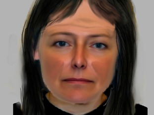 West Yorkshire Police released this e-fit image of a woman who was seen in the street in Clifton Mount knocking on doors just before Adam was shot
