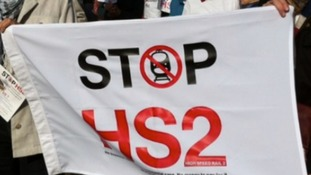 Protestor Joe Rukin is from the Stop HS2 group