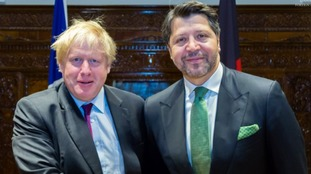 Boris Johnson was pictured with Afghanistan's acting deputy foreign minister.