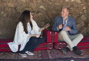 William at the Princess Taghrid Institute, Dar Niemeh in Jordan