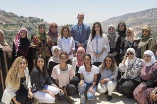 The Duke of Cambridge at the Princess Taghrid Institute