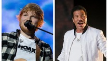Ed Sheeran and Lional Richie dine out together at Cardiff restaurant