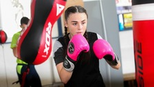 A participant in the 'B Active' boxing programme