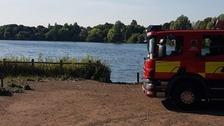 Search for teenager who entered water at lake in Staffordshire