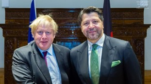 Foreign Secretary Boris Johnson with Hekmat Khalil Karzai, Deputy Foreign Minister of Afghanistan