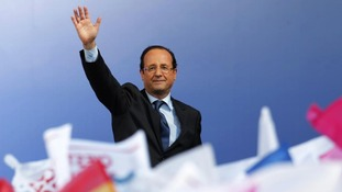 French President Francois Hollande in April 2012