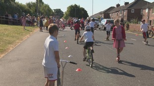 Pupils 'reclaim road' outside South Yorkshire school