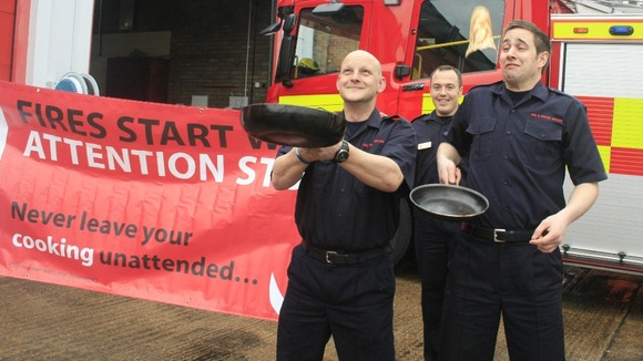 Fire and rescue staff get ready for Shrove Tuesday