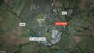 Police have searched a flat in Old Town and the St James Lake area of Brackley
