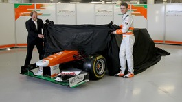 The new Force India car is unveiled
