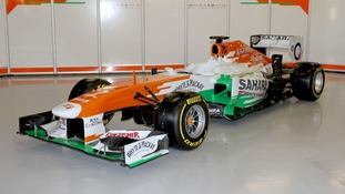 The new Force India car