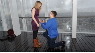 Proposal at Shard opening