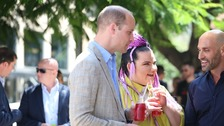 Prince William and Netta Barzilai enjoyed a cherry gazoz in the heat.
