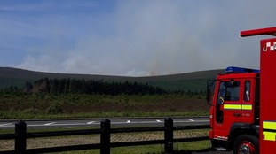 Firefighters called to major gorse fire in Sperrins