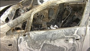 Burnt car