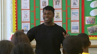Primary school children learn to 'train like a Jedi' with Star Wars' John Boyega