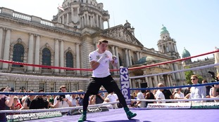 Conlan enjoys public workout ahead of big home bout