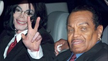 Joe Jackson, seen with his son Michael Jackson in 2004.