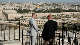 Stunning view of old Jerusalem for Prince William on last day of Middle East tour