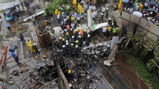 At least six dead in Mumbai plane crash