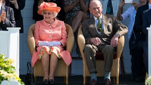 The Queen and Duke of Edinburgh watched a polo match on Sunday.