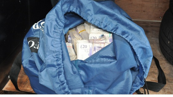 Cash in gym bag