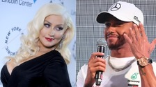 Lewis Hamilton and Christina Aguilera were spotted together at the Azerbaijan GP earlier this year.