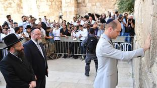 In Pictures: Prince William visits Jerusalem's sacred sites