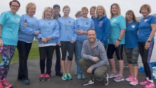 Dancing on Ice star Dan Whiston with volunteers from Lytham St Annes friendship group Just Good Friends