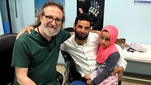 Dr Mehmet Culcu meets Maya and her father.