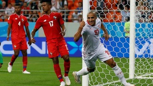 Tunisia beat Panama 2-1 to claim first World Cup win for 40 years