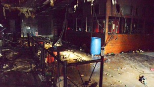Aftermath of the fire in a club in Santa Maria
