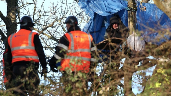 Campaigners at Combe Haven Valley were moved on by bailiffs earlier this week.