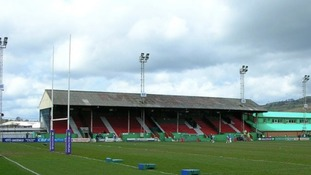 Keighley Cougars' home ground Cougar Park.