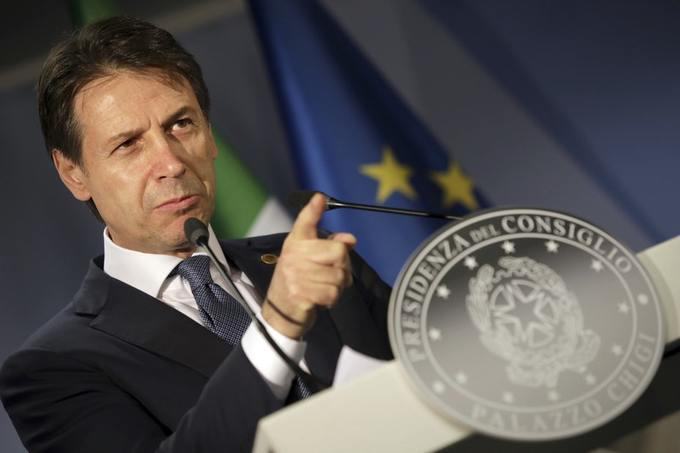 Giuseppe Conte says Italy is no longer alone