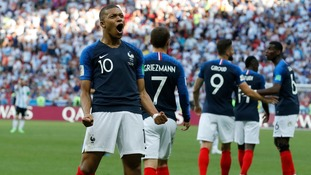 France beat Argentina in seven goal thriller to earn World Cup quarter final spot