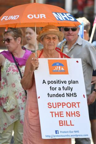 Campaigners called for extra funding for health services
